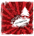 Grungy Christmas Design vector image vector image