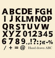 hand made font in hipster style vector image vector image