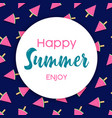 happy summer card watermelon ice cream vector image vector image