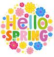 hello spring text template vector image