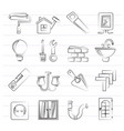 home repair and renovation icons vector image vector image