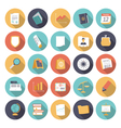 icons flat colors business finance vector image vector image