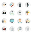 Job search icons set flat style vector image vector image
