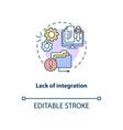 lack integration concept icon vector image vector image