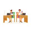 lazy and hardworking woman vector image vector image