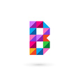 Letter B mosaic logo icon design template elements