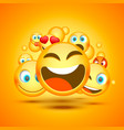 mamy emoji icon on orange background vector image
