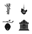 museum beekeeping tourism and other web icon in vector image vector image