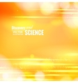 Orange science background vector image vector image