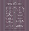Ornate and doodle callgraphic frames vector image vector image