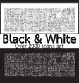 over 2000 black and white set icons quality design vector image