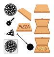 pizza italian fresh food design vector image