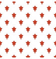 red star fir tree pattern seamless vector image