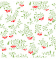 rowan berry seamless pattern in flat simple style vector image
