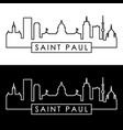 saint paul skyline linear style editable file vector image