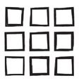 Set hand drawn square vector image vector image