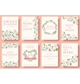 Set of flower invitation cards colorful greeting vector image vector image