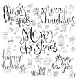 set with different calligraphy phrases to winter vector image vector image