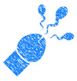 sperm ejaculation grunge icon vector image vector image