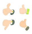 thumb up down icon set cartoon style vector image