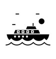 tourist ship black icon concept vector image vector image