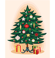 Traditional Christmas tree Cartoon vector image