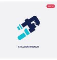 two color stillson wrench icon from tools concept vector image vector image