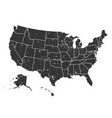 united states america map grunge style vector image