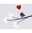 valentine bird vector image vector image