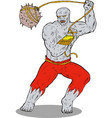 Villain Hulk Swinging Rock vector image vector image