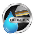 water filtration blue drop symbol vector image vector image