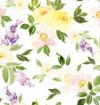 Watercolor flower pattern vector image vector image