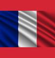waving flag on silk background vector image