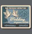 wedding organization limousine and flower service vector image vector image