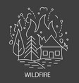 wildfire natural disaster vector image vector image