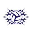 wings tatoo volleyball vector image vector image