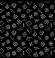 writer seamless pattern on dark background vector image