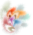Pastel background with feather vector image