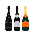 champagne bottle icon design vector image