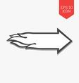 Flaming arrow icon Speed concept Flat design gray vector image
