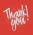 thank you lettering handwritten calligraphy vector image