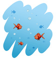 A school of fishes vector image vector image