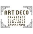art deco creative font vector image