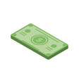 banknote money currency cash icon isometric style vector image vector image