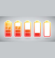 battery charging levels icons vector image
