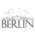 berlin skyline line art 8 vector image vector image