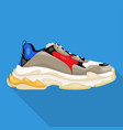 big sneakers modern woman shoes flat icon vector image
