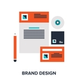brand design concept vector image vector image