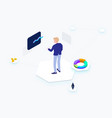 business cryptocurrency isometric vector image