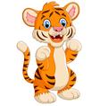 cartoon cute tiger vector image